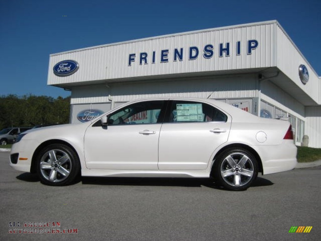 2012 ford fusion sport in white platinum tri coat 162135 all american automobiles buy. Black Bedroom Furniture Sets. Home Design Ideas