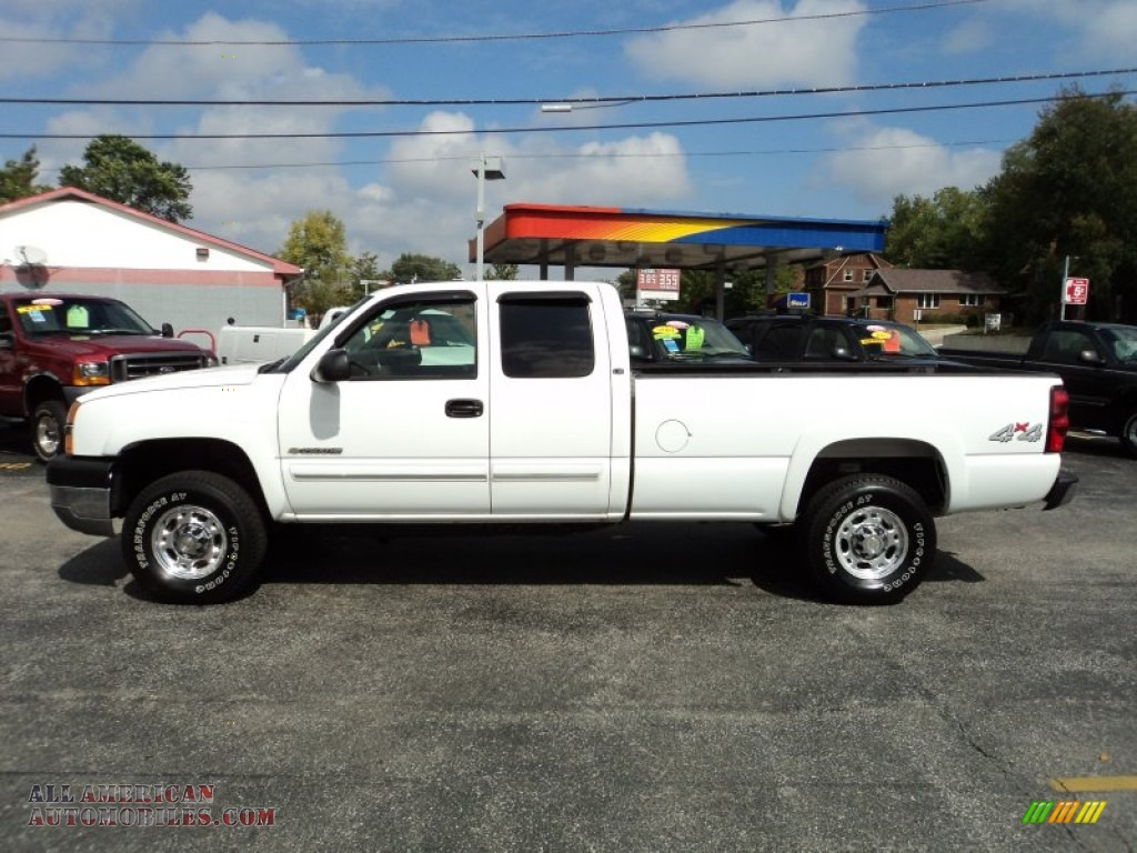 2004 chevrolet silverado 2500hd ls extended cab 4x4 in summit white 268644 all american. Black Bedroom Furniture Sets. Home Design Ideas