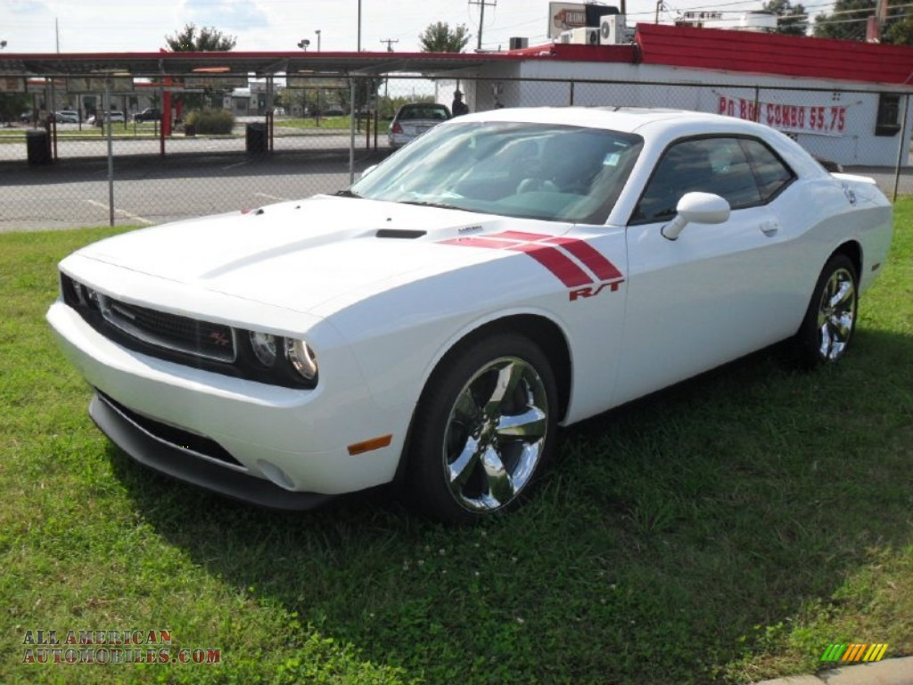 2012 dodge challenger r t plus in bright white 106415 all american automobiles buy. Black Bedroom Furniture Sets. Home Design Ideas