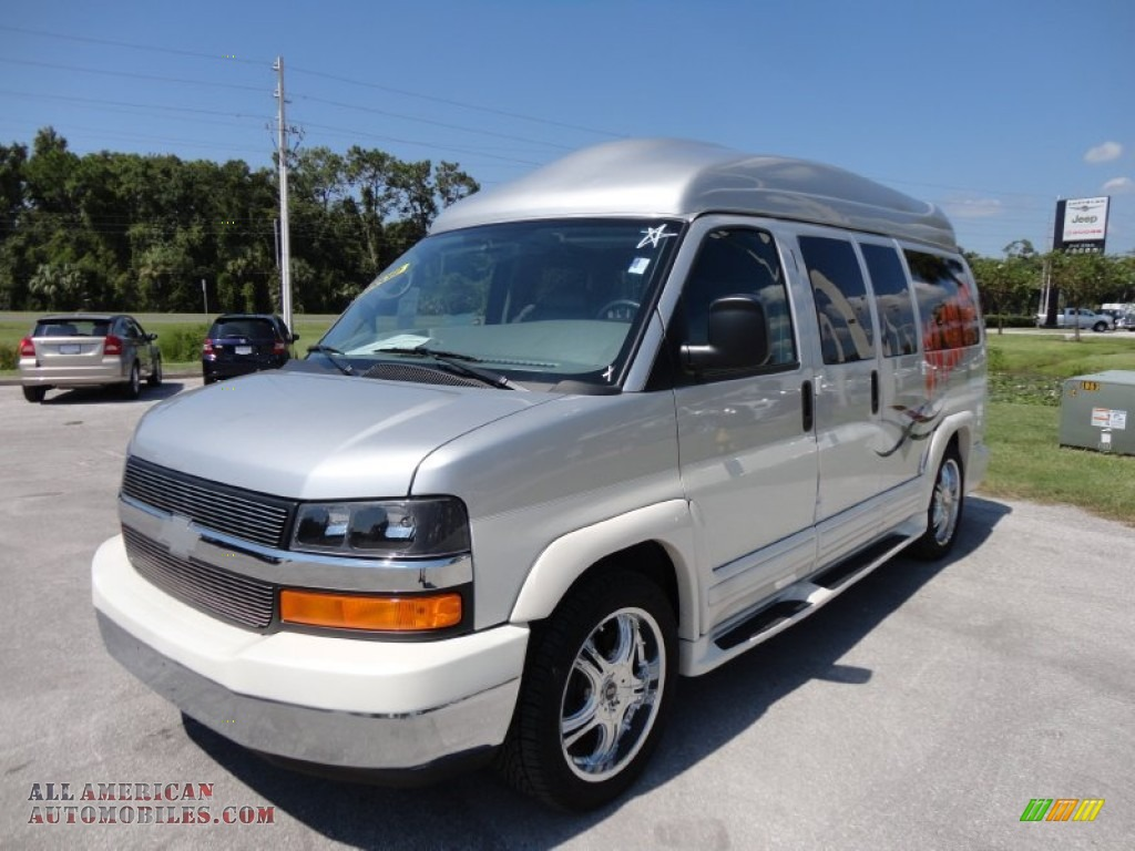 2010 chevrolet express ls 1500 explorer conversion van in sheer silver metallic 133443 all. Black Bedroom Furniture Sets. Home Design Ideas