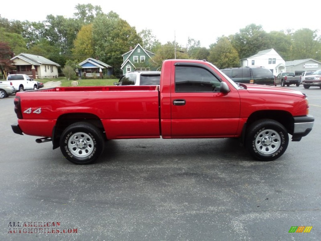 2006 chevrolet silverado 1500 z71 regular cab 4x4 in victory red photo 2 191409 all. Black Bedroom Furniture Sets. Home Design Ideas