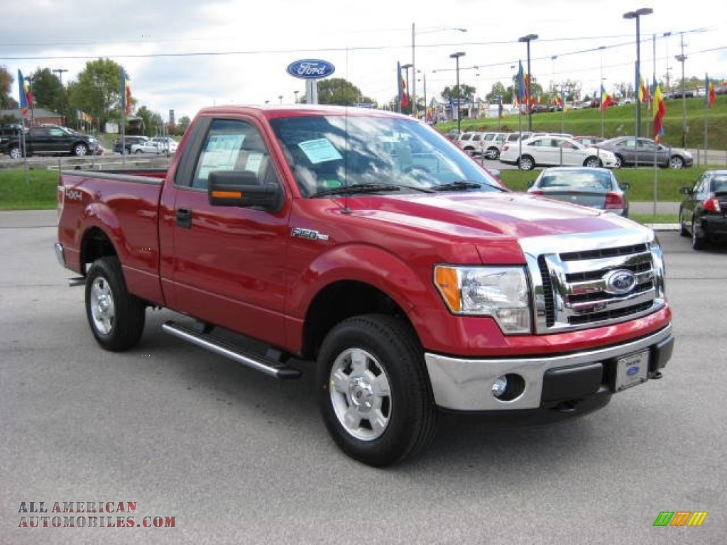 2011 Ford F150 XLT Regular Cab 4x4 in Red Candy Metallic ...