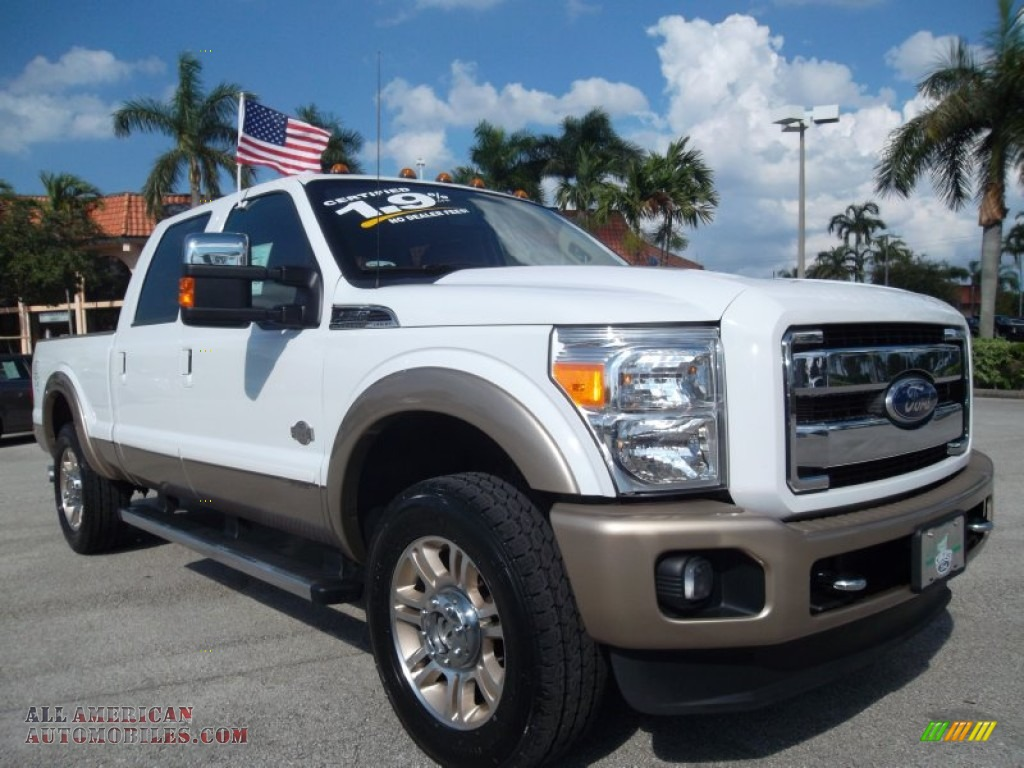 2011 Ford F250 Super Duty King Ranch Crew Cab 4x4 In White Platinum Metallic Tri Coat A34285