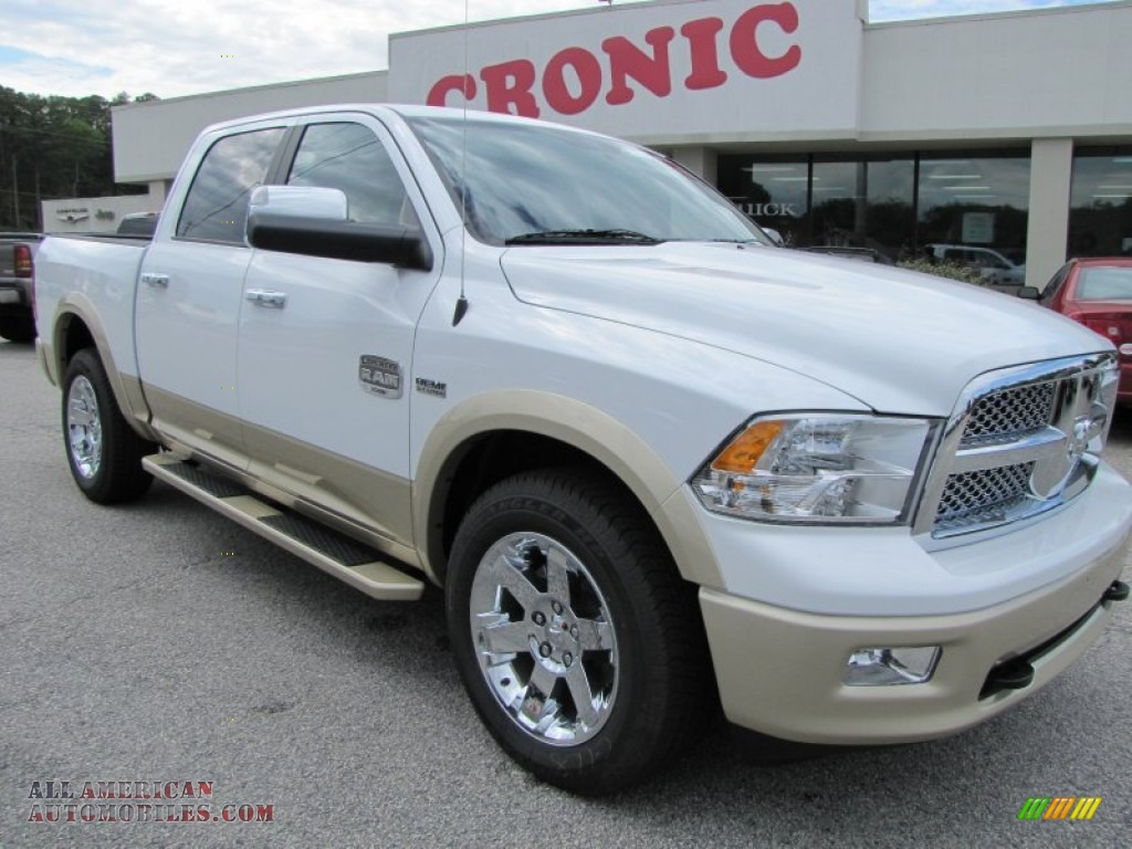 2012 dodge ram 1500 laramie longhorn crew cab 4x4 in bright white. Black Bedroom Furniture Sets. Home Design Ideas