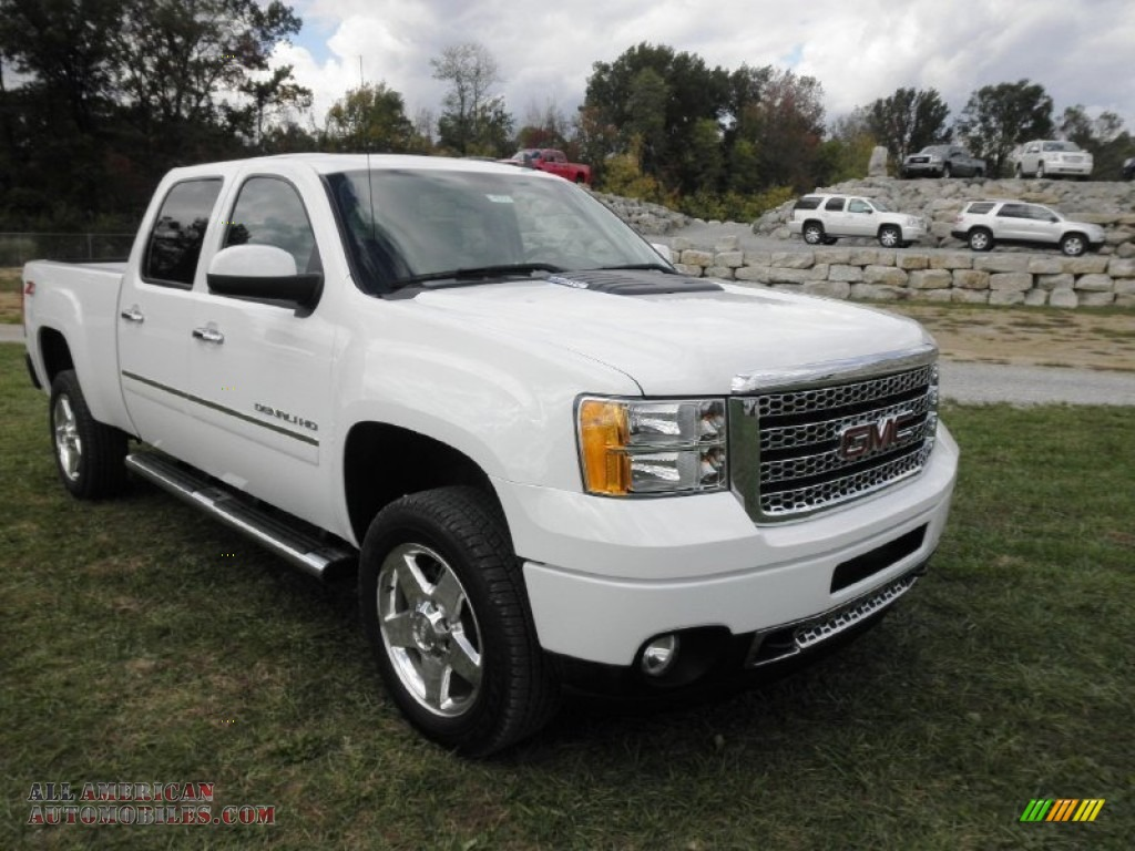 2012 gmc sierra 2500hd denali crew cab 4x4 in summit white photo 2 100587 all american. Black Bedroom Furniture Sets. Home Design Ideas