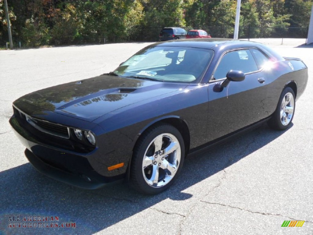 2012 Challenger SXT - Blackberry Pearl / Dark Slate Gray photo #1