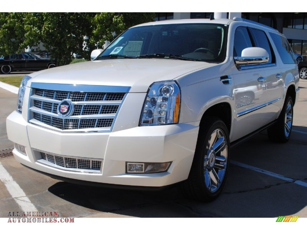 2012 cadillac escalade esv platinum in white diamond. Black Bedroom Furniture Sets. Home Design Ideas