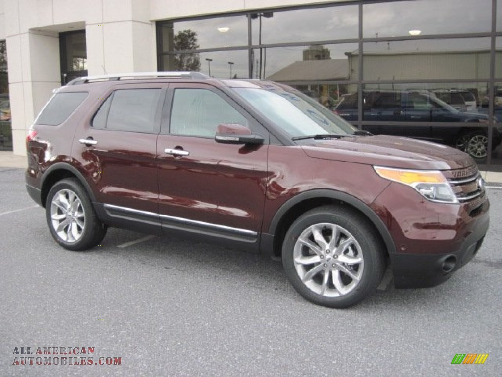 ford explorer limited wd  cinnamon metallic   american automobiles buy