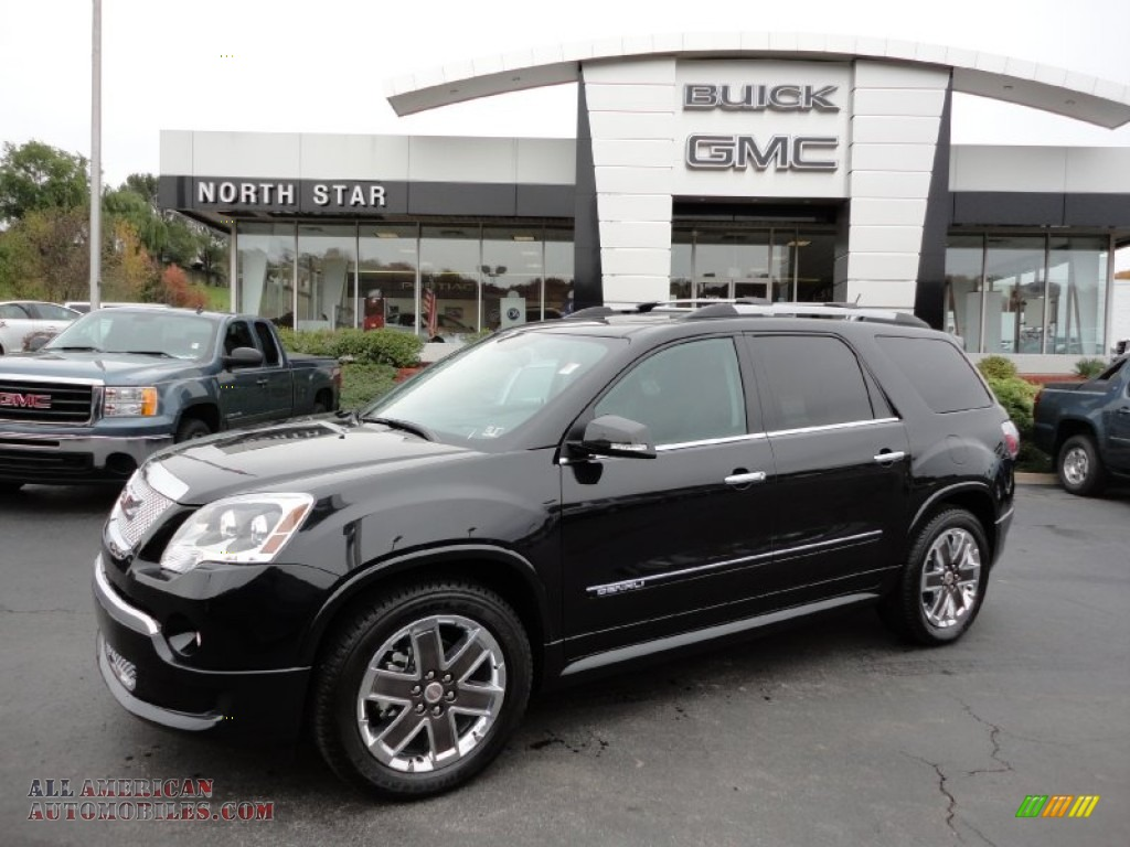 2012 gmc acadia denali awd in carbon black metallic 175054 all american automobiles buy. Black Bedroom Furniture Sets. Home Design Ideas