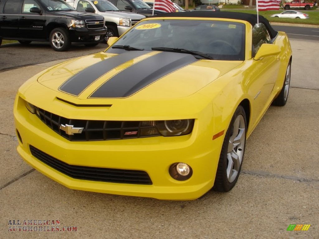 2011 chevrolet camaro ss rs convertible in rally yellow 188612 all american automobiles. Black Bedroom Furniture Sets. Home Design Ideas