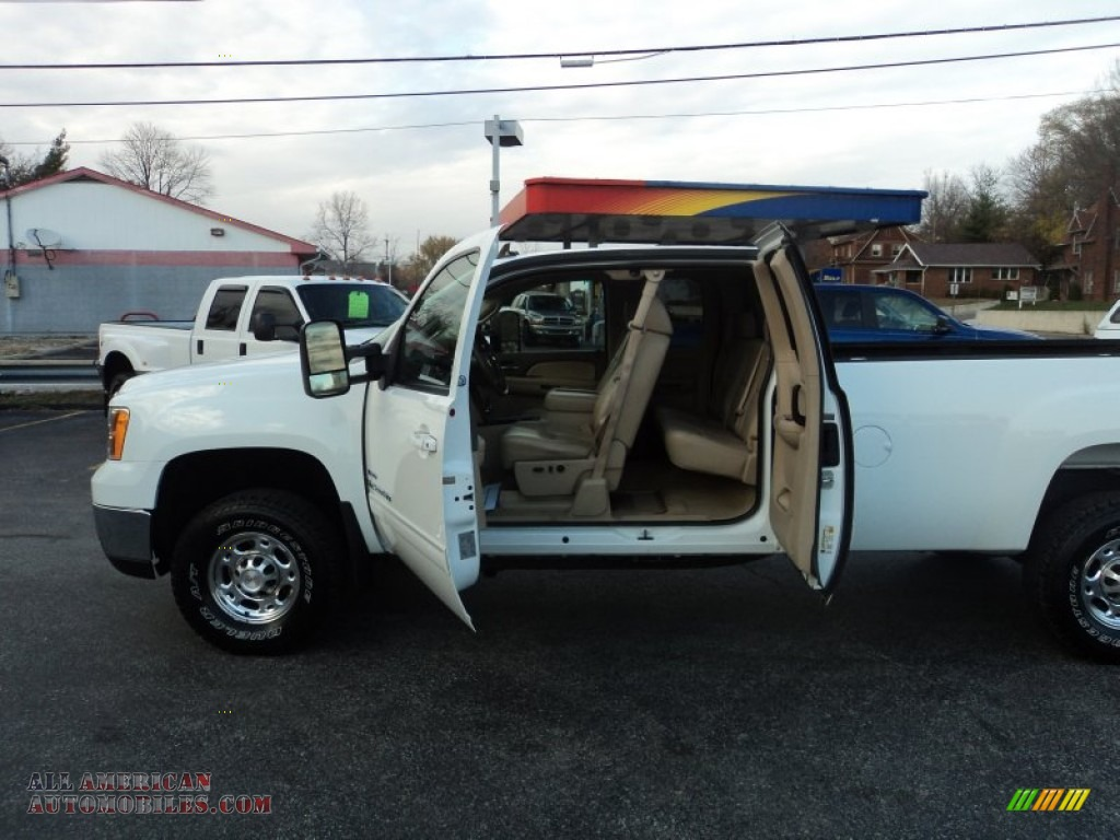 2007 sierra 2500hd slt extended cab 4x4 summit white dark cashmere. Cars Review. Best American Auto & Cars Review