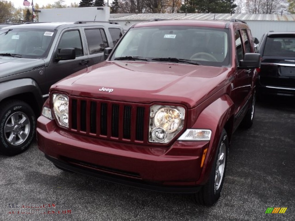 2012 jeep liberty sport 4x4 in deep cherry red crystal pearl 110003 all american automobiles. Black Bedroom Furniture Sets. Home Design Ideas
