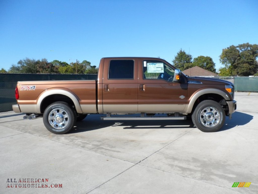2012 Ford F250 Super Duty King Ranch Crew Cab 4x4 In Golden Bronze Metallic Photo 2 A65074