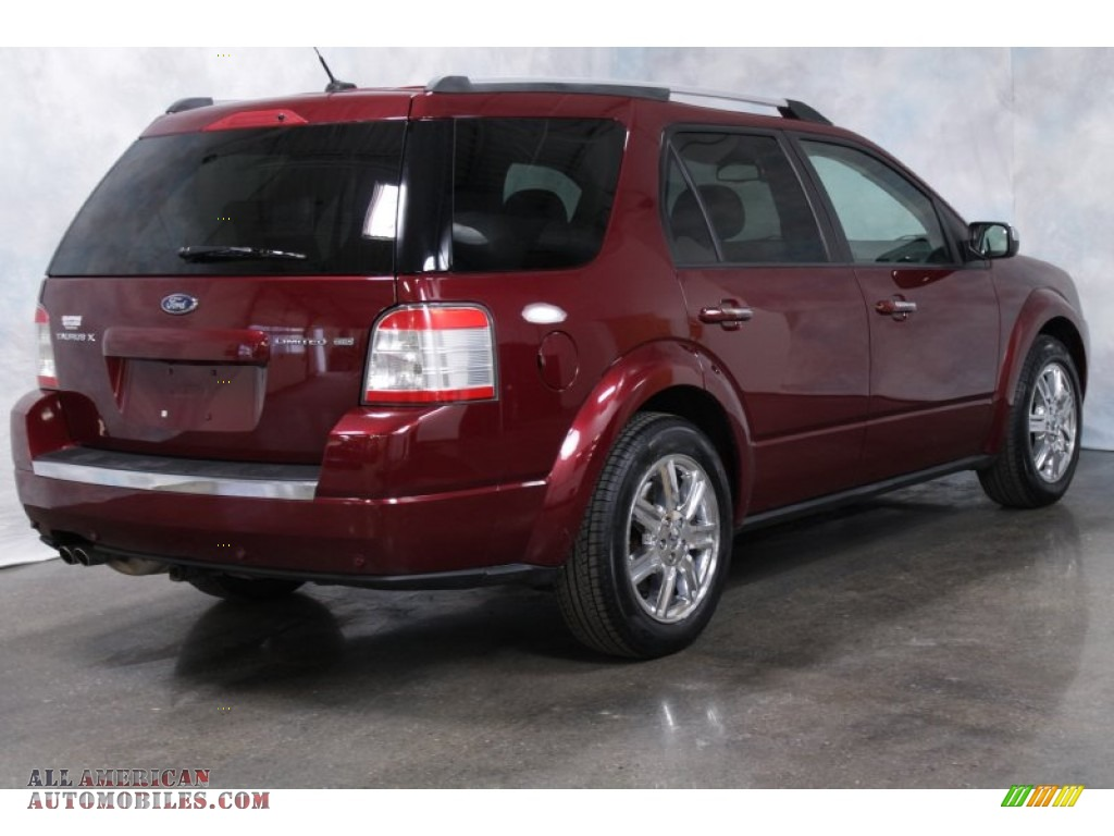 2008 Ford Taurus X Limited AWD in Merlot Metallic photo #8 - A18547 ...