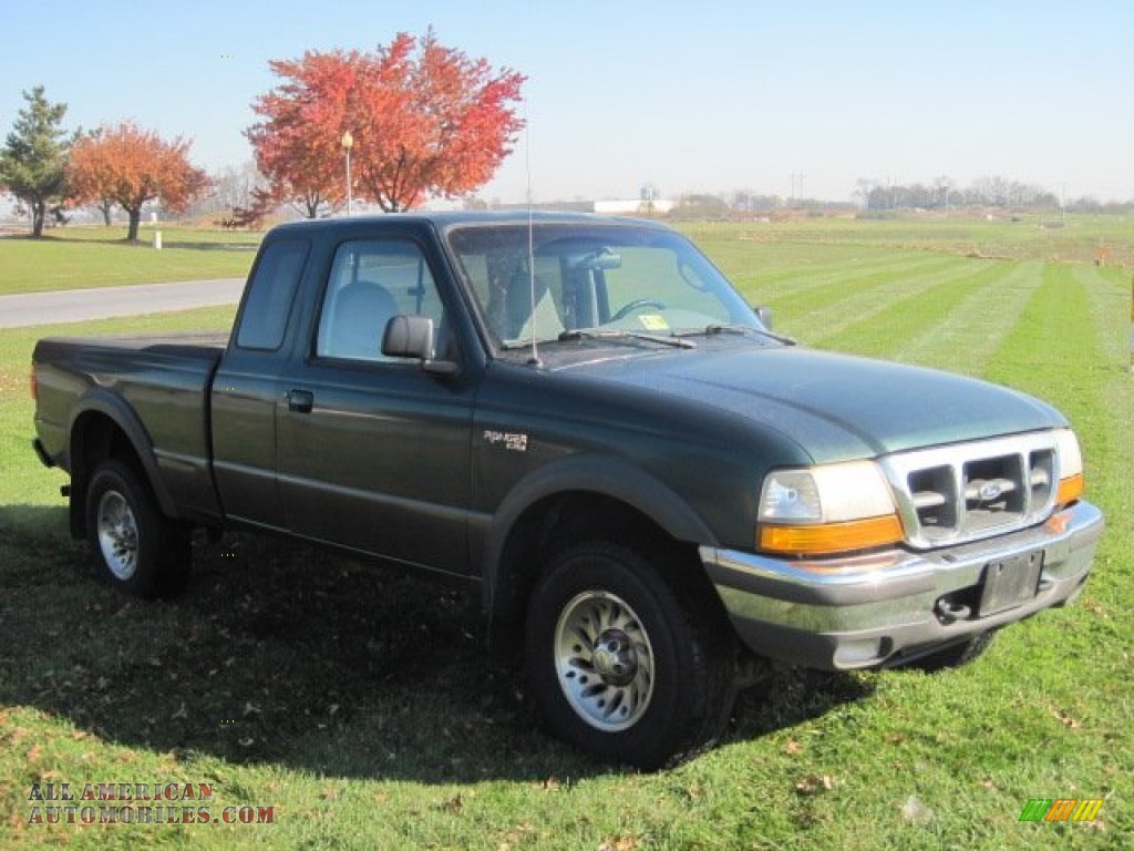 1998 Ford Ranger Xlt Extended Cab 4x4 In Deep Emerald