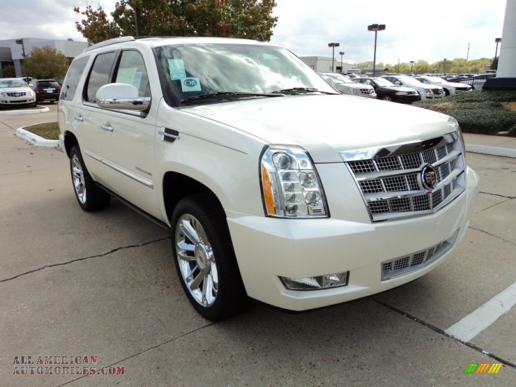 2012 cadillac escalade platinum in white diamond tricoat 129688 all american automobiles. Black Bedroom Furniture Sets. Home Design Ideas