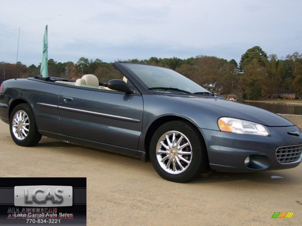 2002 chrysler sebring limited convertible in steel blue. Black Bedroom Furniture Sets. Home Design Ideas