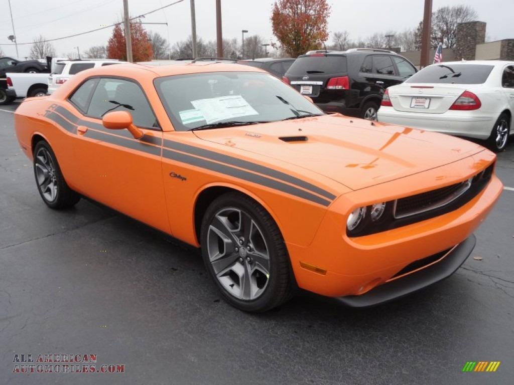 2012 dodge challenger r t classic in header orange 128030 all american automobiles buy. Black Bedroom Furniture Sets. Home Design Ideas