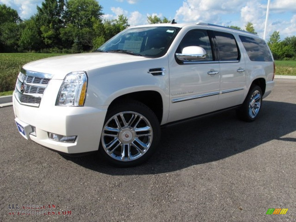 2011 cadillac escalade esv platinum awd in white diamond tricoat 362289 all american. Black Bedroom Furniture Sets. Home Design Ideas