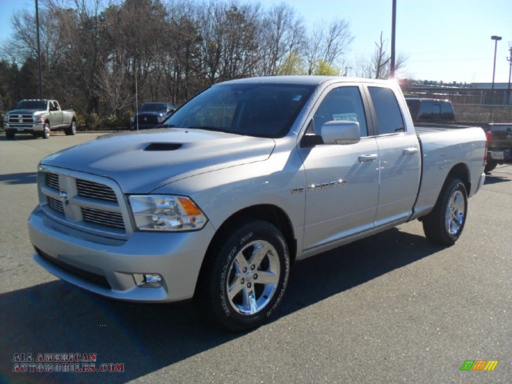 2012 dodge ram 1500 sport quad cab 4x4 in bright silver metallic. Black Bedroom Furniture Sets. Home Design Ideas