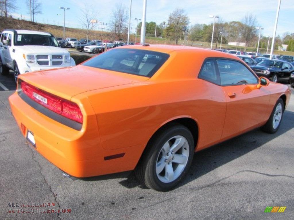 2012 Dodge Challenger Sxt In Header Orange Photo 3