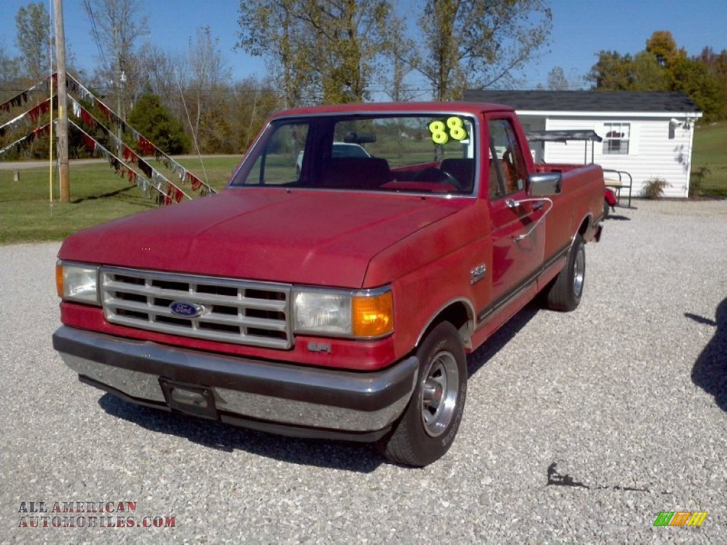 1988 ford f150 xlt lariat regular cab in red a48535 all american automobiles buy american. Black Bedroom Furniture Sets. Home Design Ideas