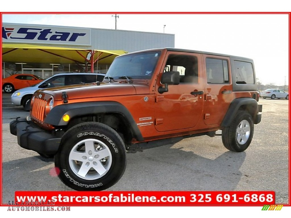 Pine Belt Cadillac >> 2011 Jeep Wrangler Unlimited Sport 4x4 in Mango Tango Pearl photo #6 - 568205 | All American ...