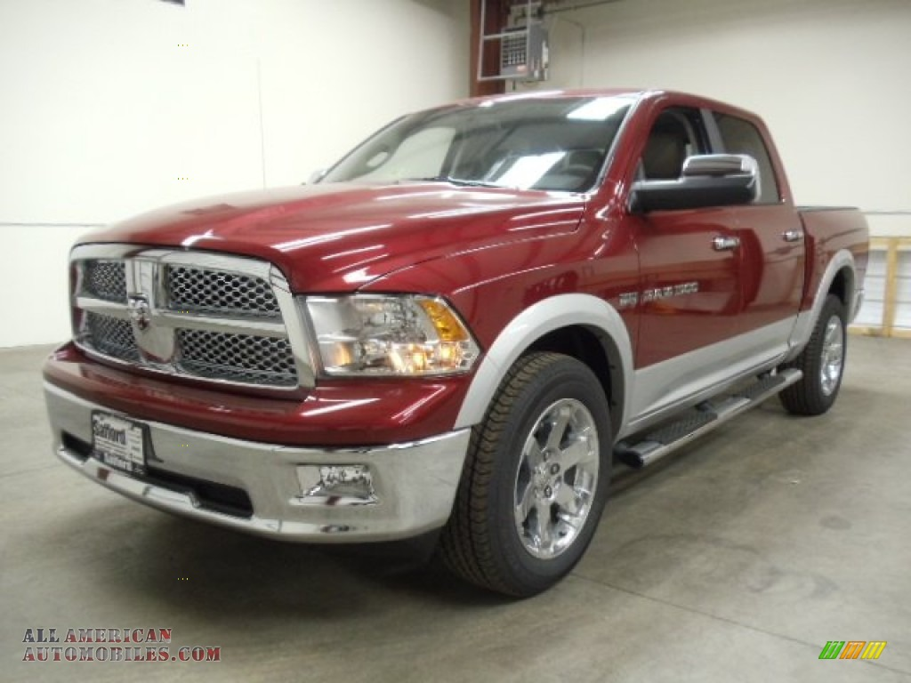 2012 dodge ram 1500 laramie longhorn crew cab 4x4 in deep cherry red. Black Bedroom Furniture Sets. Home Design Ideas