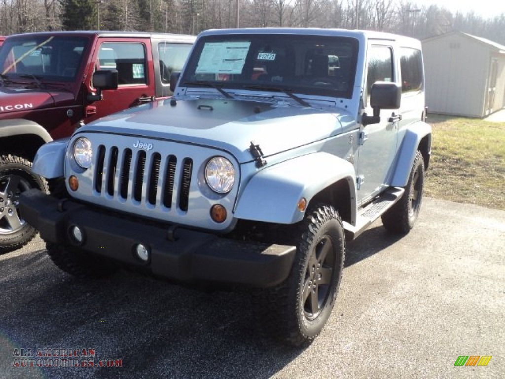 2012 jeep wrangler sahara arctic edition 4x4 in winter chill pearl 154481 all american. Black Bedroom Furniture Sets. Home Design Ideas