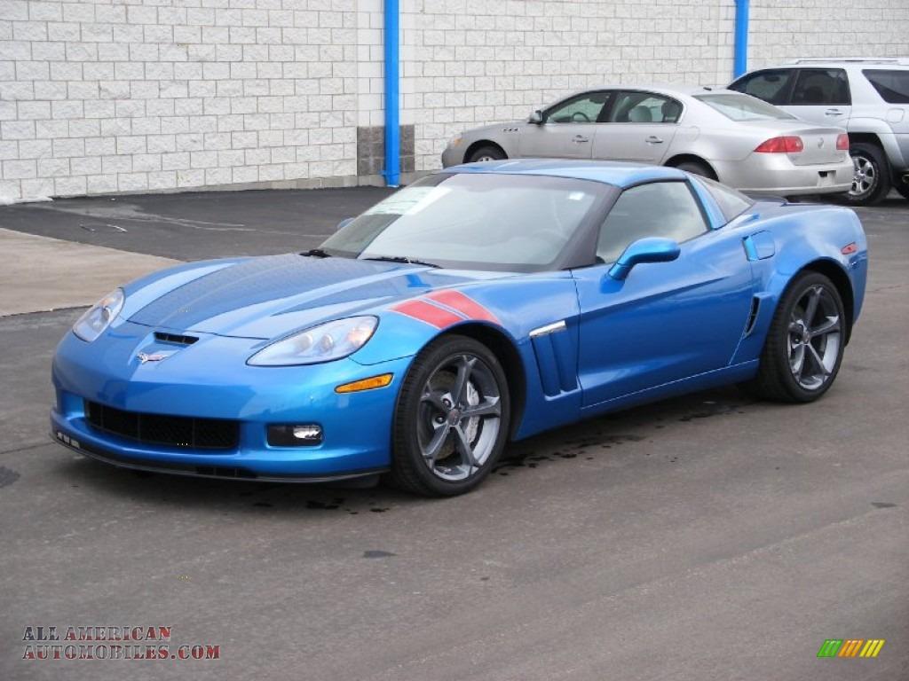 2010 chevrolet corvette grand sport coupe in jetstream blue metallic 103583 all american. Black Bedroom Furniture Sets. Home Design Ideas