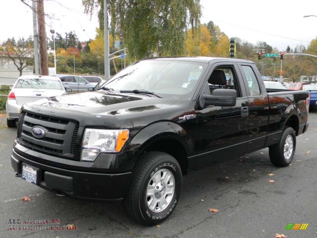 2009 Ford F150 STX SuperCab 4x4 in Black - A80217 | All ...