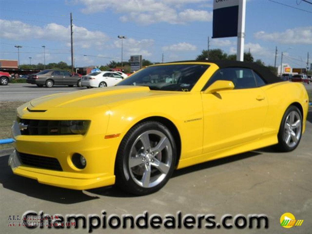 2011 chevrolet camaro ss rs convertible in rally yellow 198087 all american automobiles. Black Bedroom Furniture Sets. Home Design Ideas
