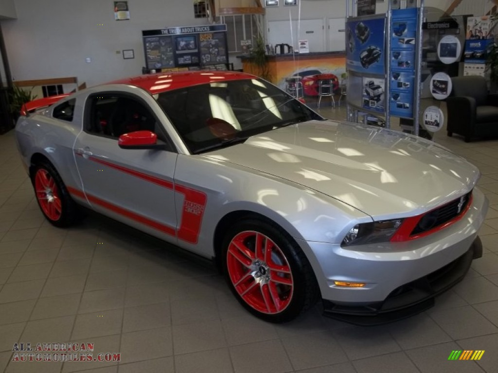 2012 ford mustang boss 302 laguna seca in ingot silver metallic race red 240654 all american. Black Bedroom Furniture Sets. Home Design Ideas