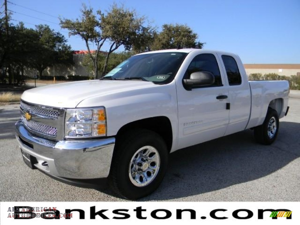 2012 chevrolet silverado 1500 ls extended cab 4x4 in summit white 146858 all american. Black Bedroom Furniture Sets. Home Design Ideas