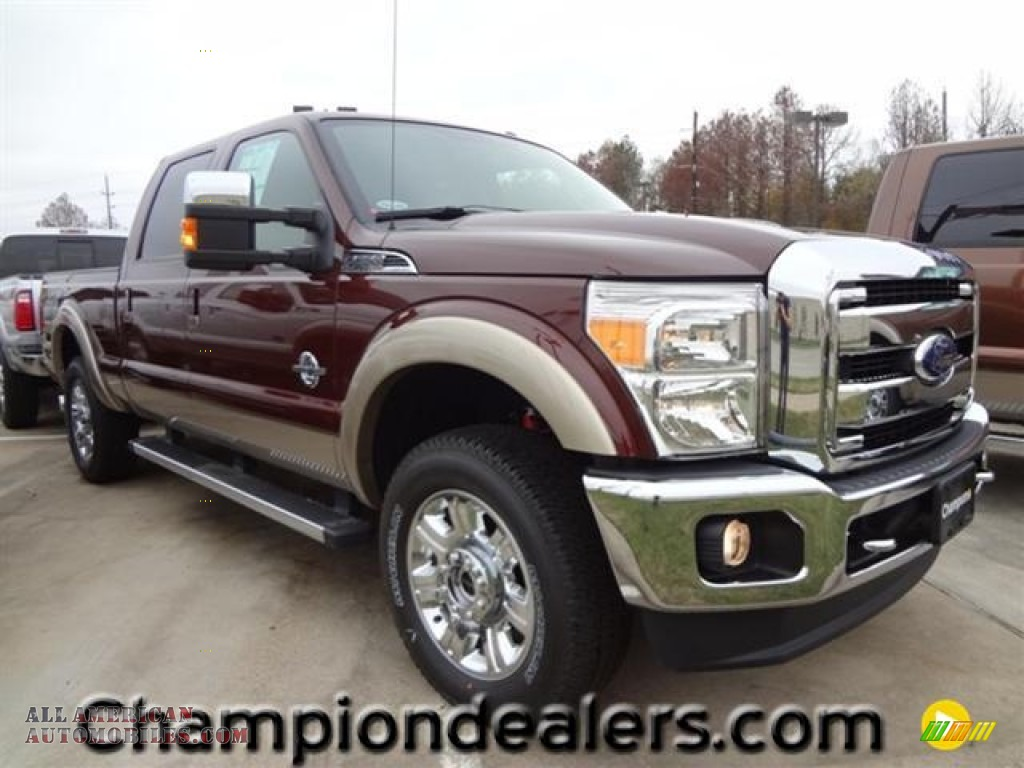 2012 ford f250 super duty lariat crew cab 4x4 in autumn red metallic a28437 all american. Black Bedroom Furniture Sets. Home Design Ideas
