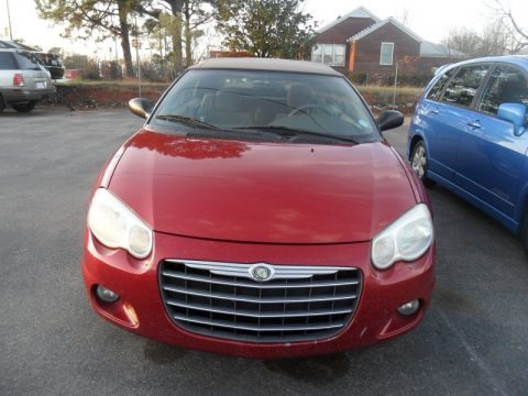 Inferno Red Pearl 2004 Chrysler Sebring Convertible