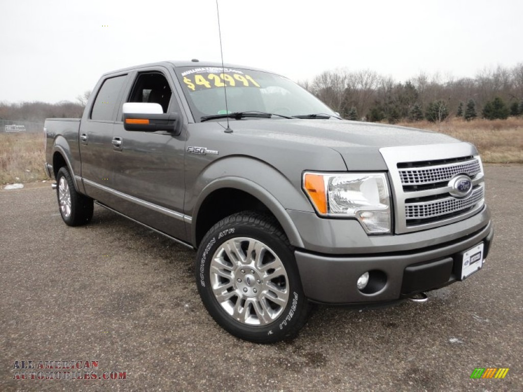 2011 Ford F150 Platinum Supercrew 4x4 In Sterling Grey