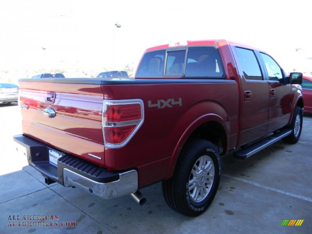 2012 ford f150 lariat supercrew 4x4 in red candy metallic photo 3 a20073 all american. Black Bedroom Furniture Sets. Home Design Ideas
