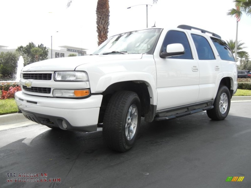 2005 chevrolet tahoe z71 4x4 in summit white photo 2 224255 all american automobiles buy. Black Bedroom Furniture Sets. Home Design Ideas