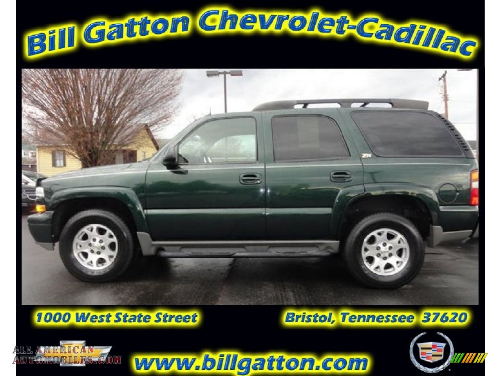 2003 Chevrolet Tahoe Z71 4x4 In Dark Green Metallic 102509 All American Automobiles Buy American Cars For Sale In America
