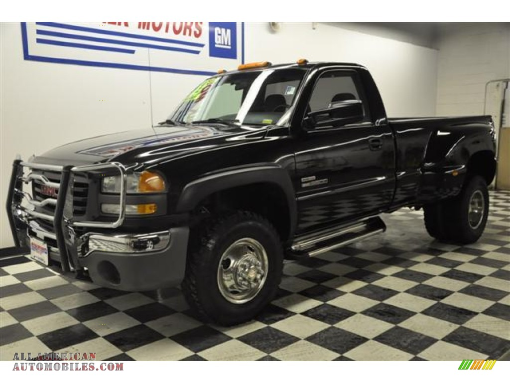 2003 gmc sierra 3500 regular cab 4x4 dually in onyx black photo 27 138505 all american