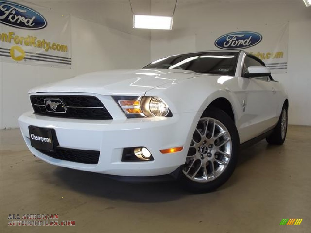 2012 ford mustang v6 premium convertible in performance white 275411 all american. Black Bedroom Furniture Sets. Home Design Ideas