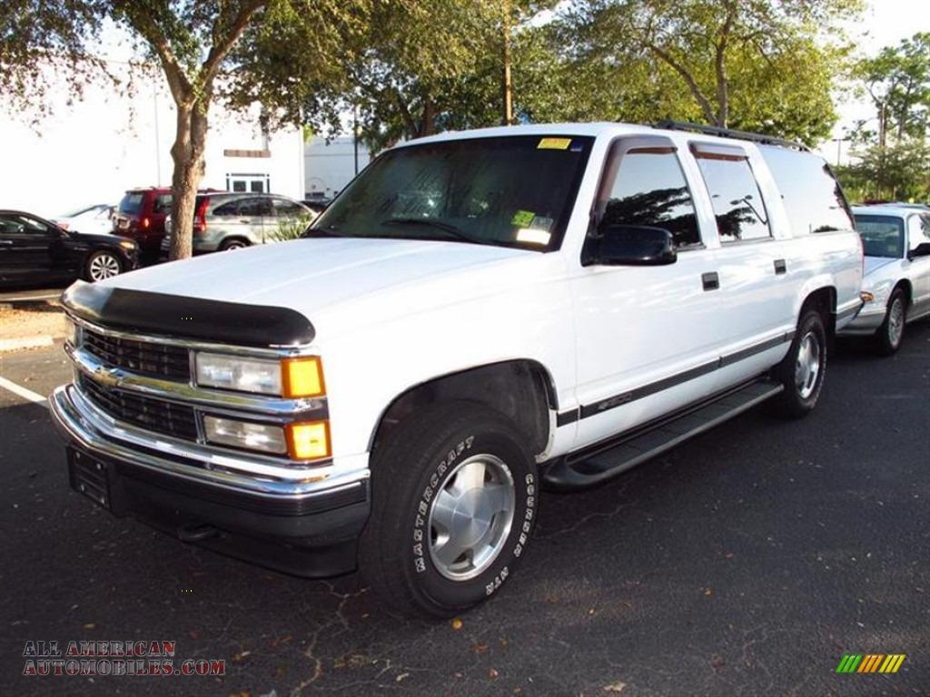 1999 Chevrolet Suburban K1500 4x4 In Summit White Photo 4