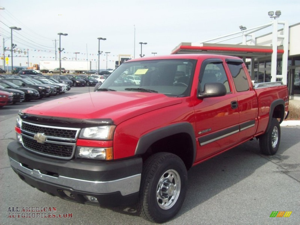 2006 chevrolet silverado 2500hd lt extended cab 4x4 in victory red 132718 all american. Black Bedroom Furniture Sets. Home Design Ideas