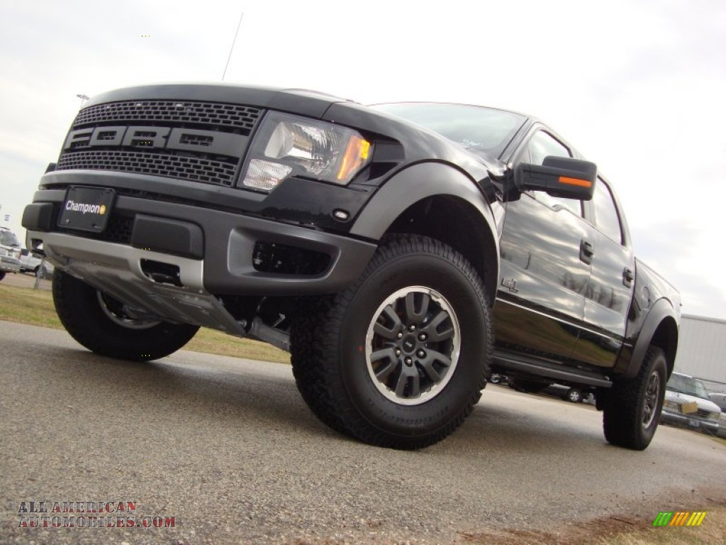 2011 ford f150 svt raptor supercrew 4x4 in tuxedo black metallic d34932 all american. Black Bedroom Furniture Sets. Home Design Ideas