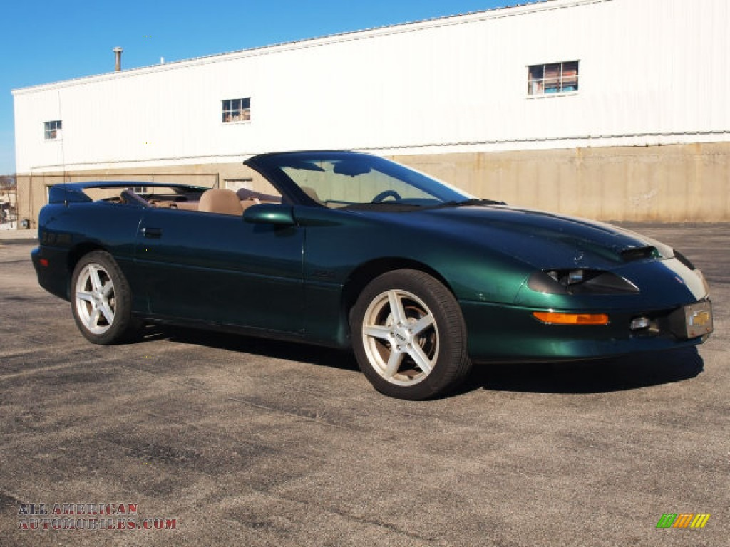 1995 chevrolet camaro z28 convertible in polo green metallic 159704 all american automobiles. Black Bedroom Furniture Sets. Home Design Ideas