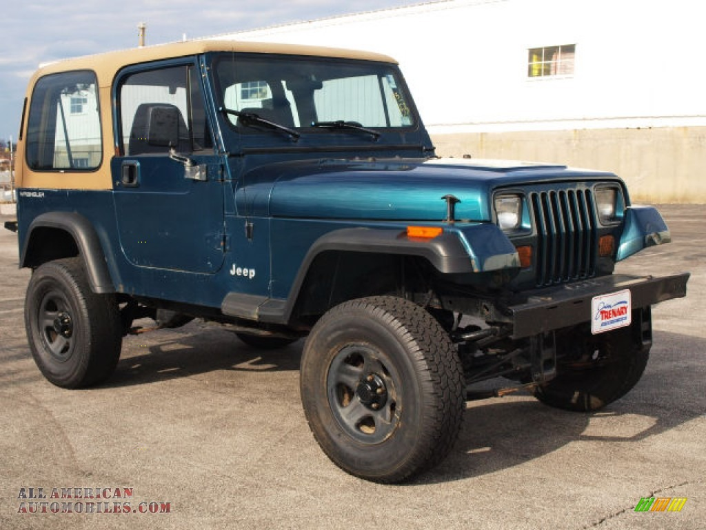 Jim Trenary Ford >> 1995 Jeep Wrangler S 4x4 in Emerald Green Pearl - 249290   All American Automobiles - Buy ...