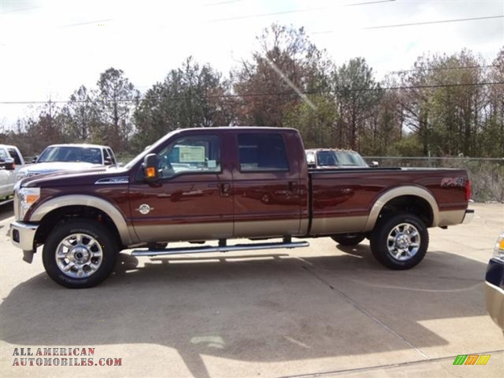 2012 ford f350 super duty lariat crew cab 4x4 in autumn red photo 4 a86841 all american. Black Bedroom Furniture Sets. Home Design Ideas
