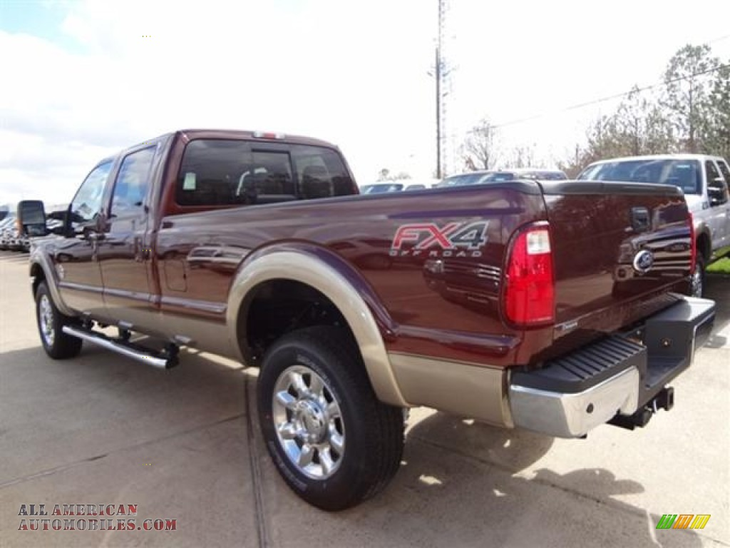 2012 ford f350 super duty lariat crew cab 4x4 in autumn red photo 5 a86841 all american. Black Bedroom Furniture Sets. Home Design Ideas