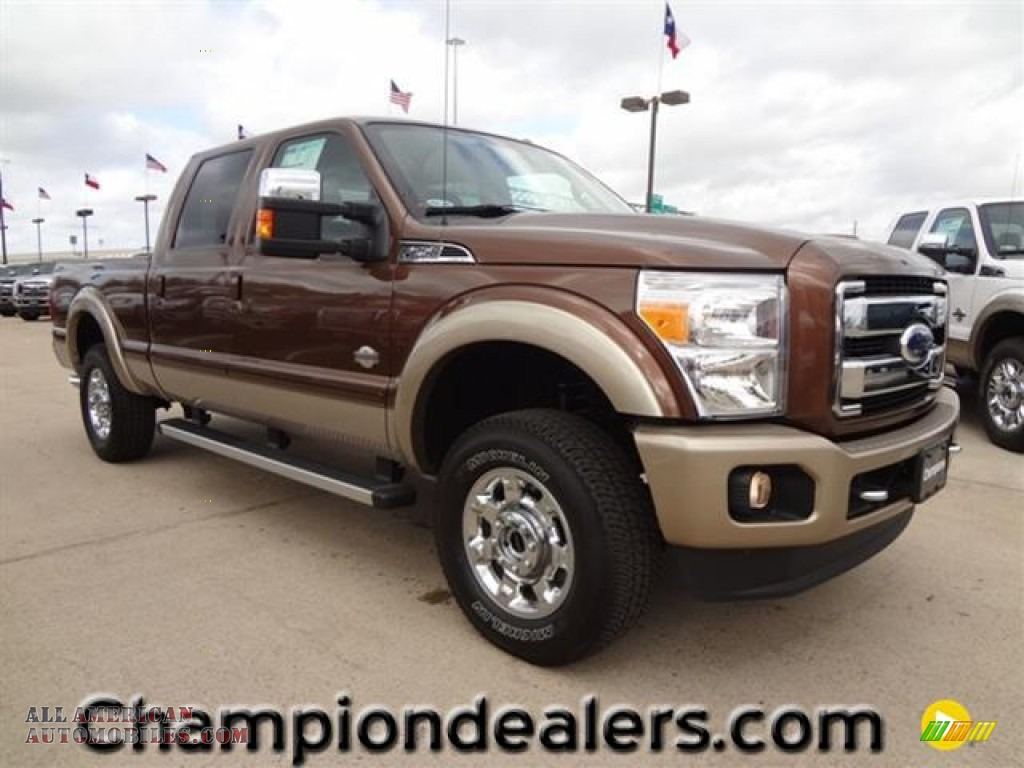 2012 Ford F250 Super Duty King Ranch Crew Cab 4x4 In Golden Bronze Metallic A01334 All